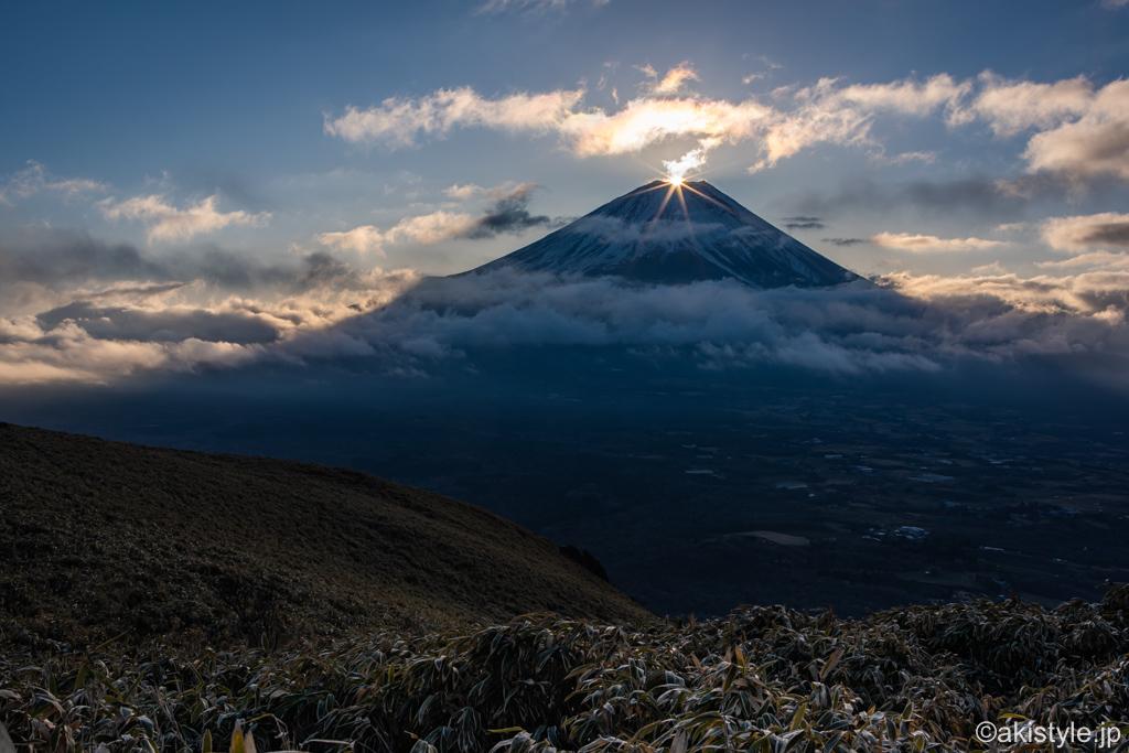 竜ヶ岳からの初日の出ダイヤモンド富士