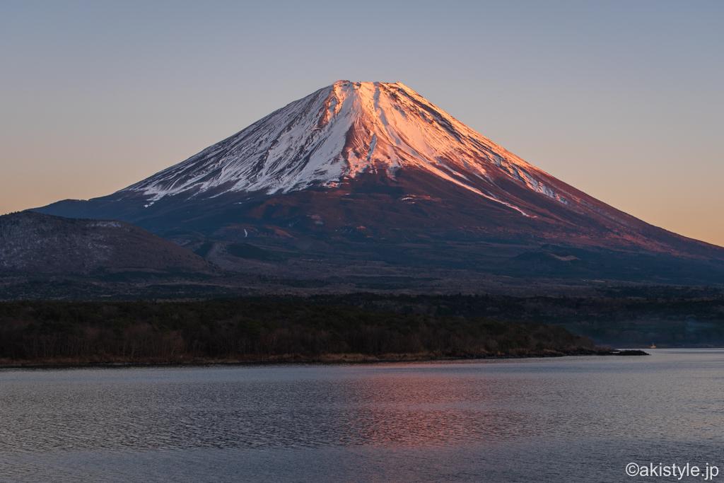 本栖湖からの紅富士
