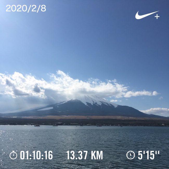山中湖1周ランニング