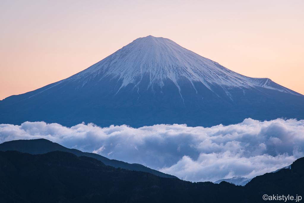 清水吉原と富士山