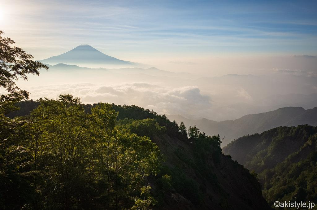 七面山からの富士山