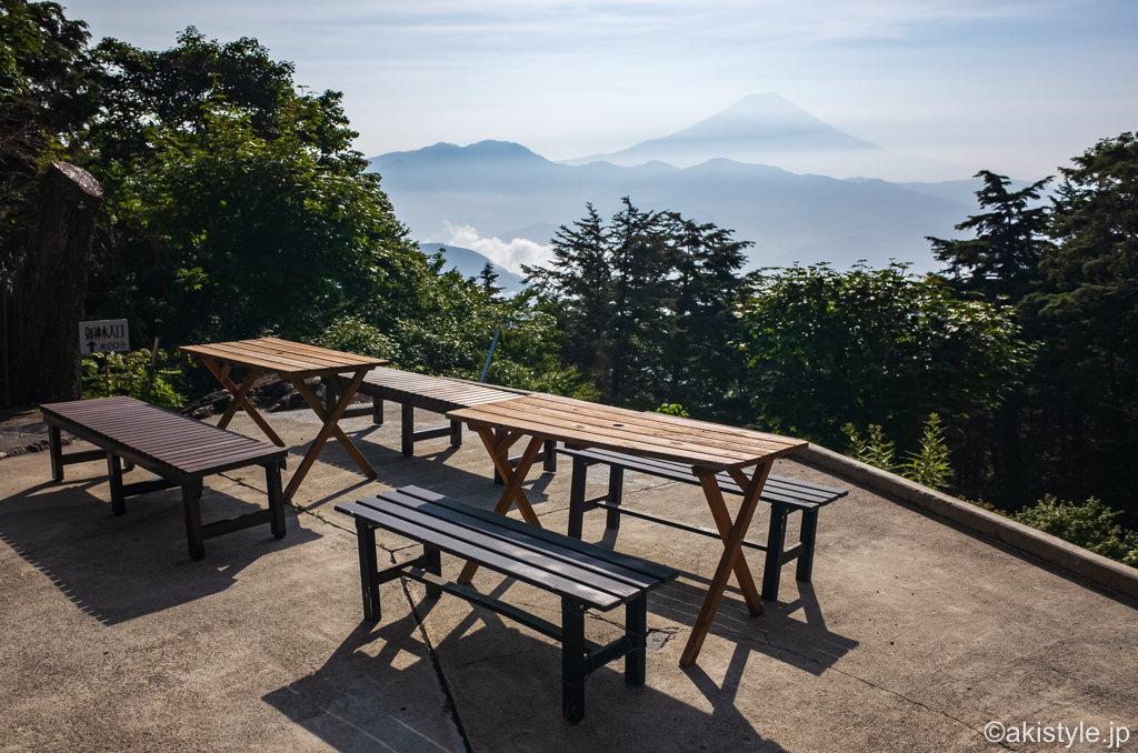 七面山奥の院からの富士山
