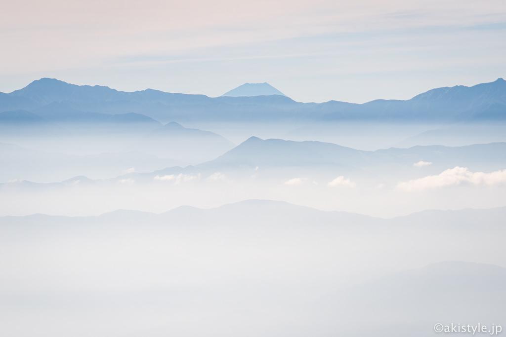 千畳敷駅からの富士山