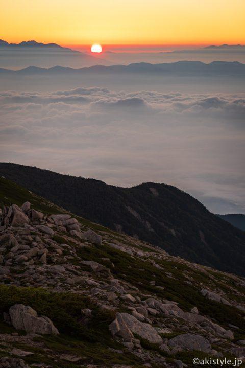 木曽駒ヶ岳の御来光
