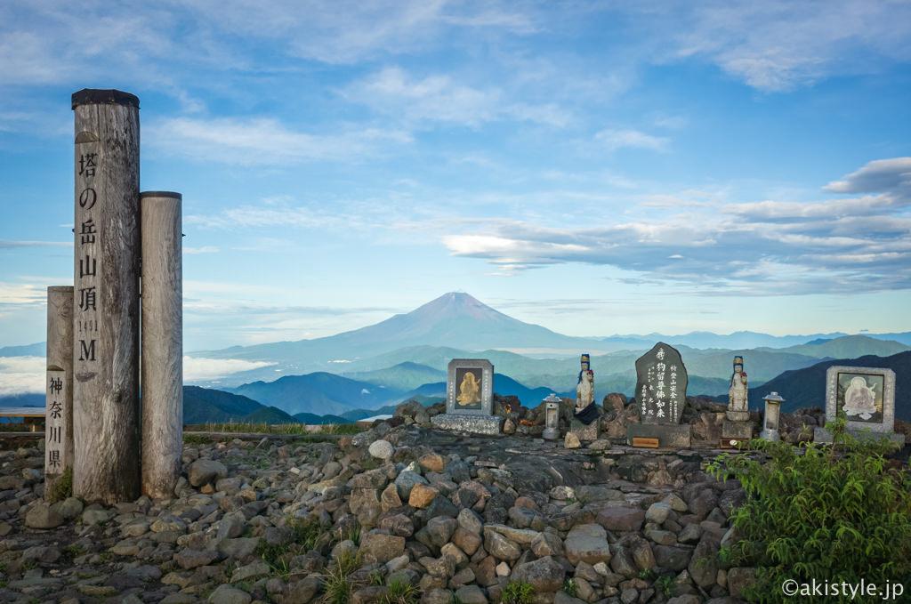 塔ノ岳と富士山
