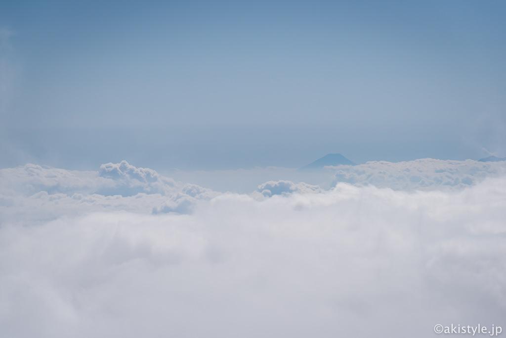 燕岳からの富士山