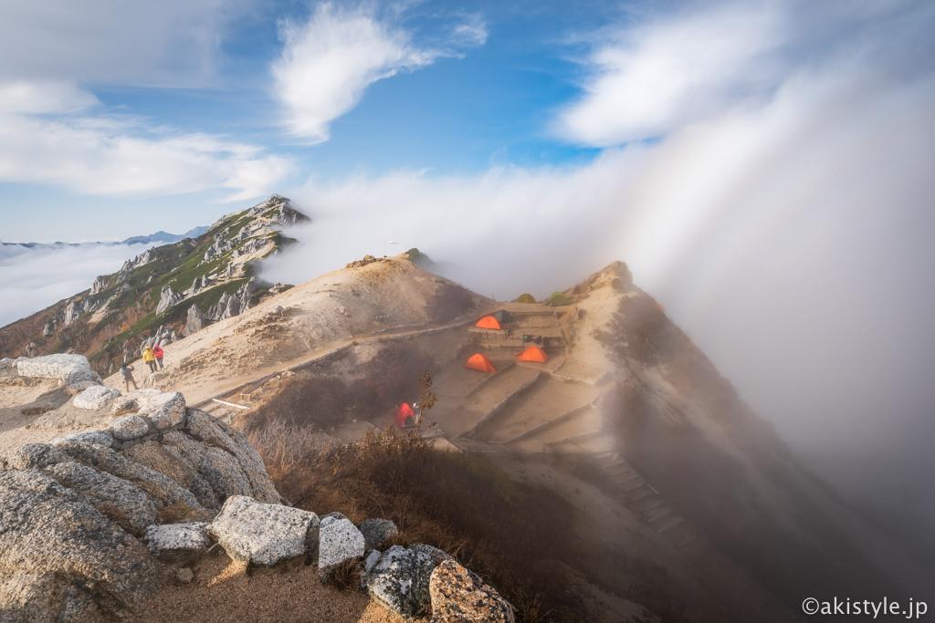 燕岳と霧虹