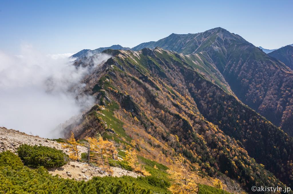 大下りの頭からの大天井岳