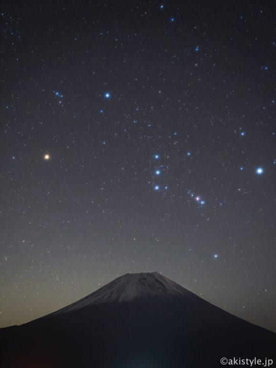 富士山とオリオン