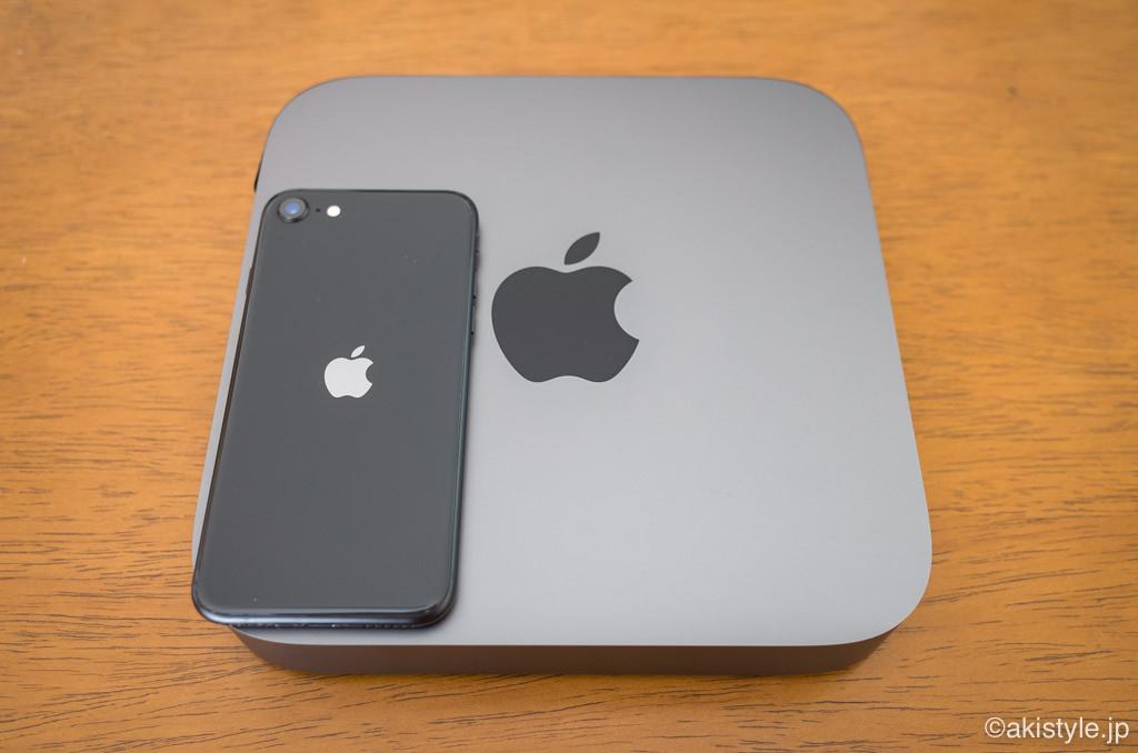 Mac miniとiPhone SE