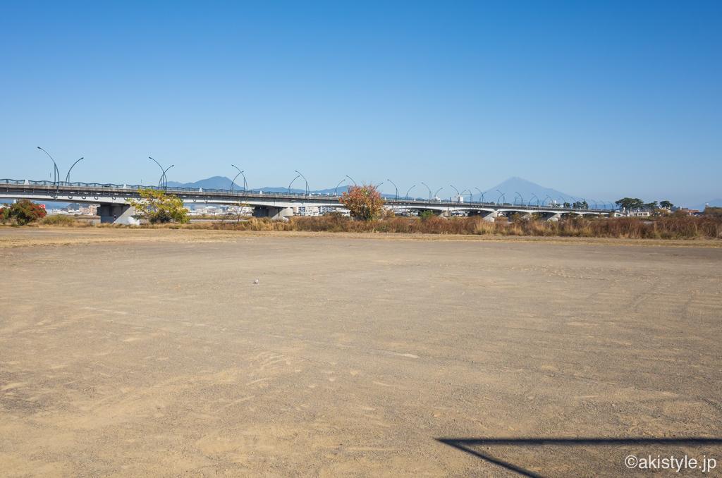 安倍川からの富士山