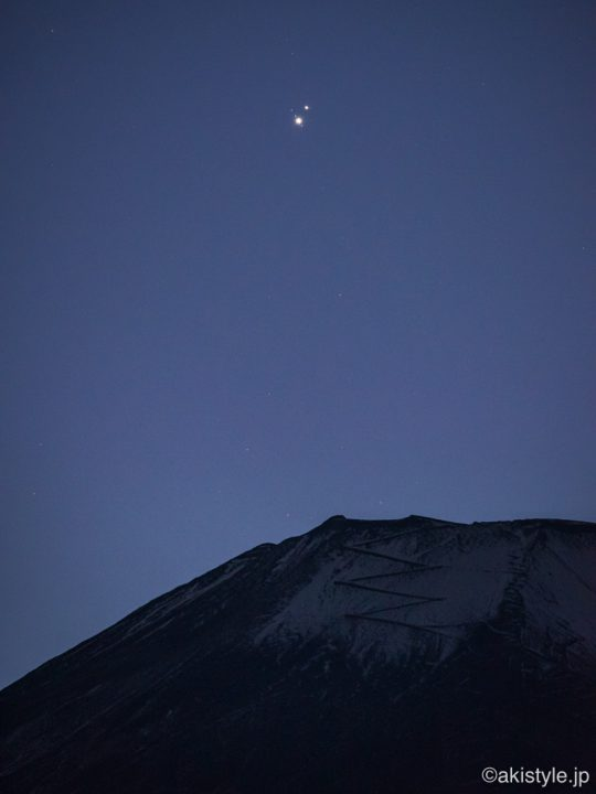 富士山と木星土星の大接近