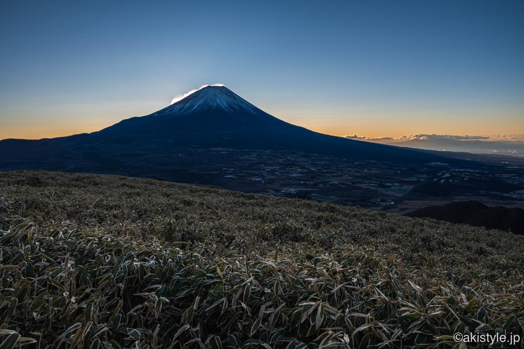 竜ヶ岳から望む富士山