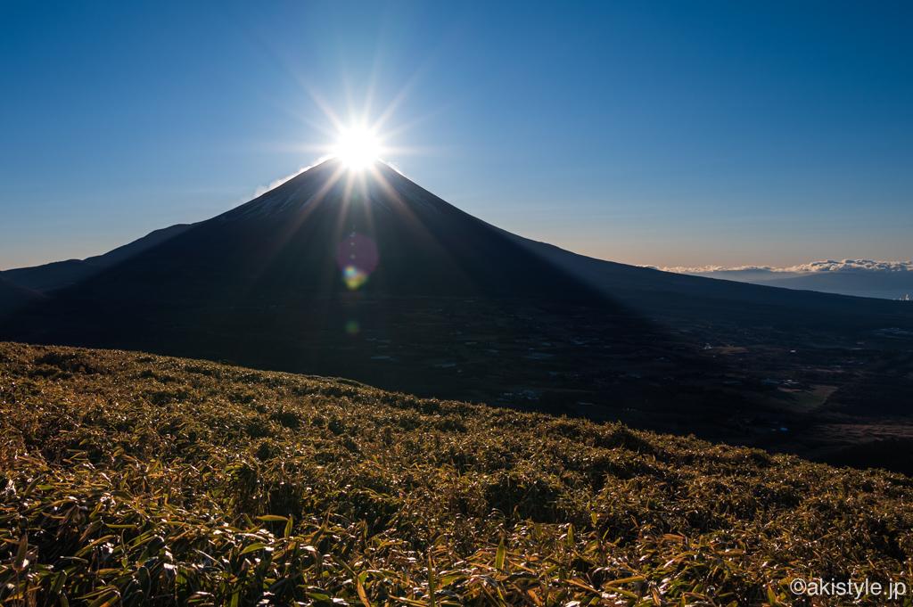 竜ヶ岳で初日の出ダイヤモンド富士