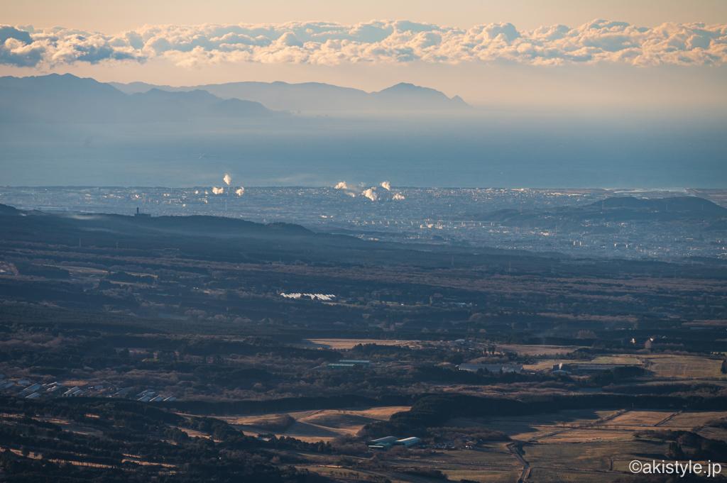 竜ヶ岳から望む富士市