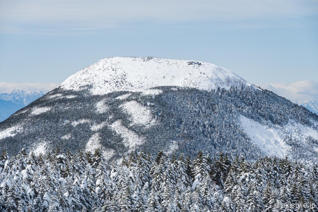 冬の蓼科山