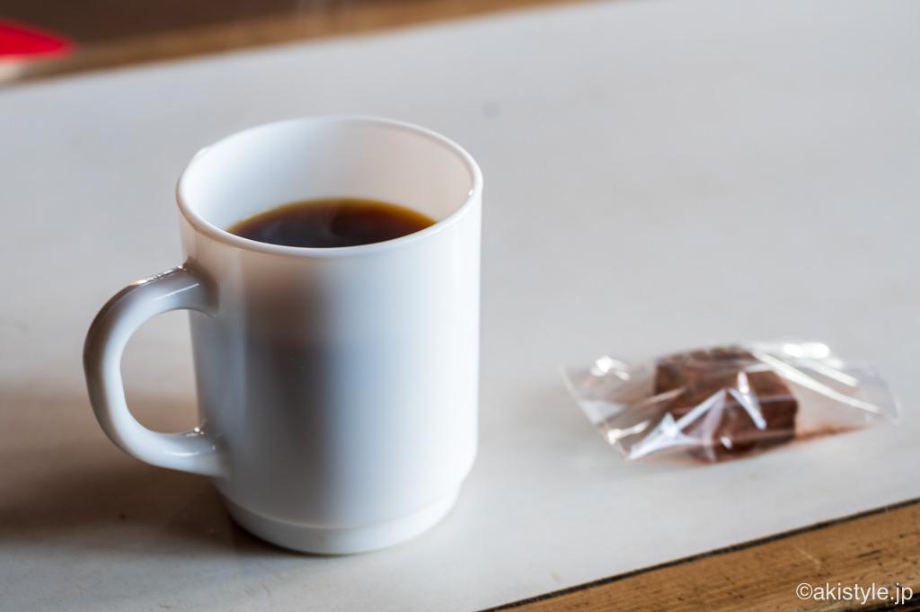 尊仏山荘のコーヒー