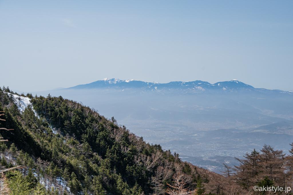 黒斑山表コースから見える八ヶ岳連峰