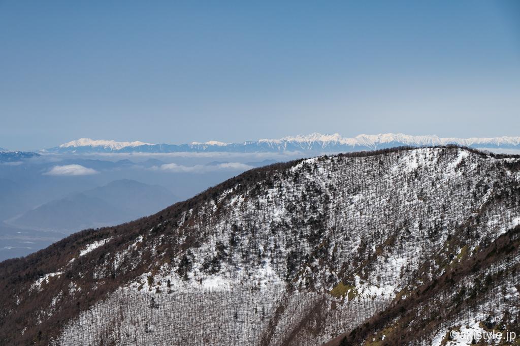 黒斑山表コースから見える北アルプス
