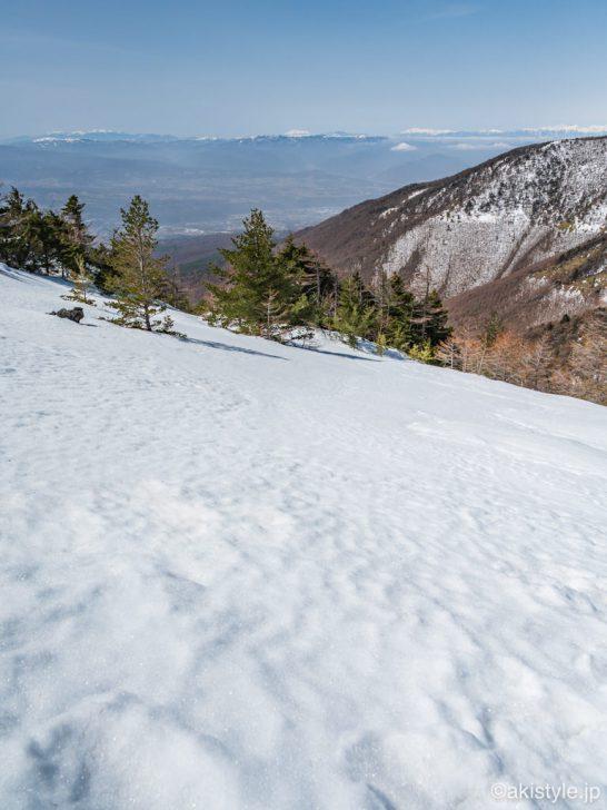 黒斑山表コースから見える景色