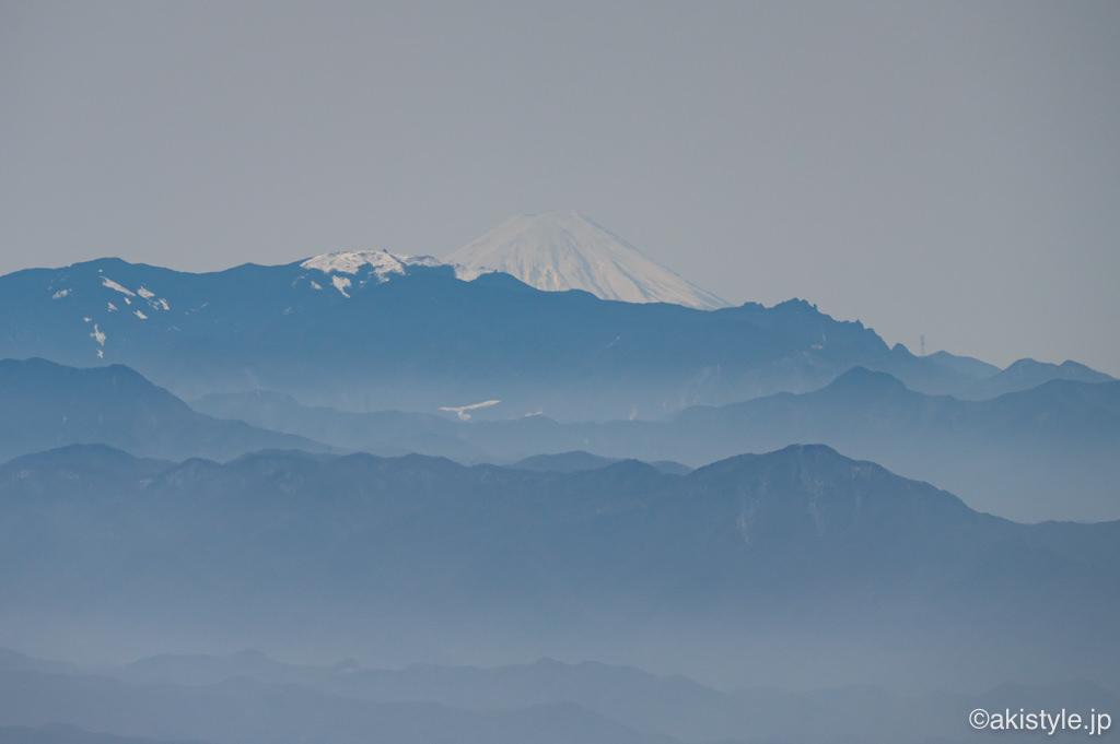 黒斑山から見える富士山