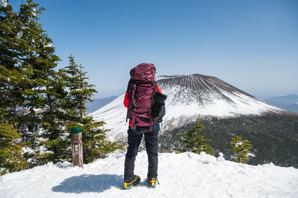 黒斑山と浅間山