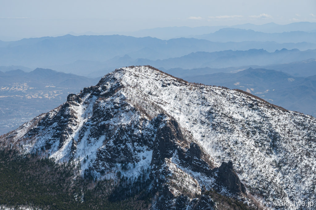 黒斑山からの景色