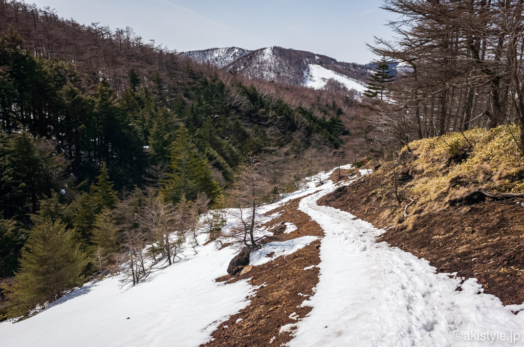 黒斑山中コース