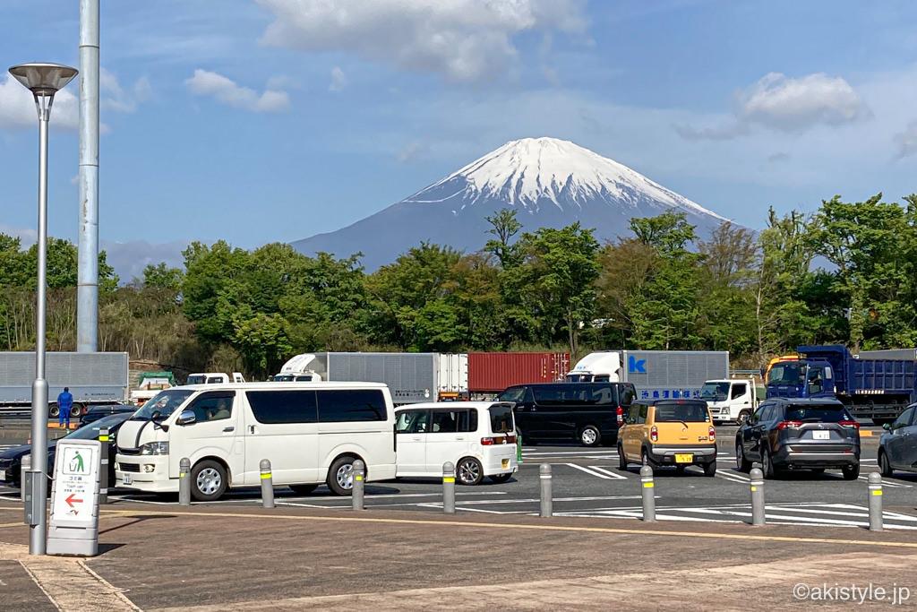 足柄SAから見える富士山