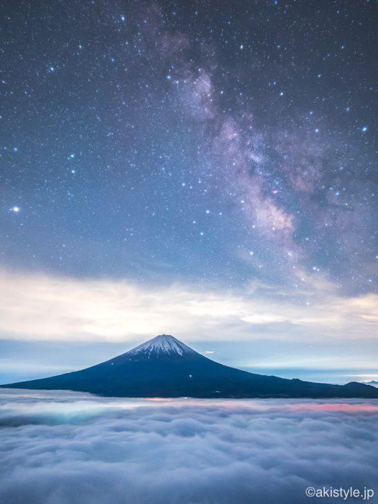 富士山と天の川と大雲海