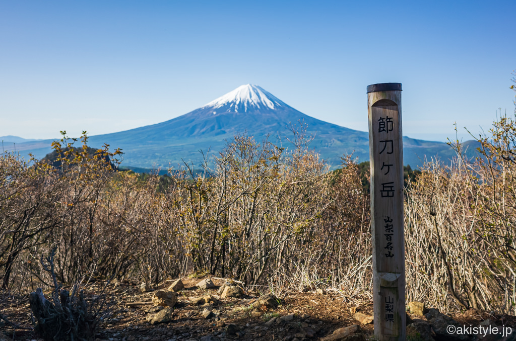 節刀ヶ岳から見る富士山