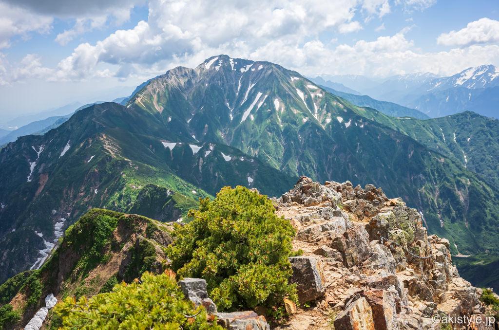 五竜岳への縦走