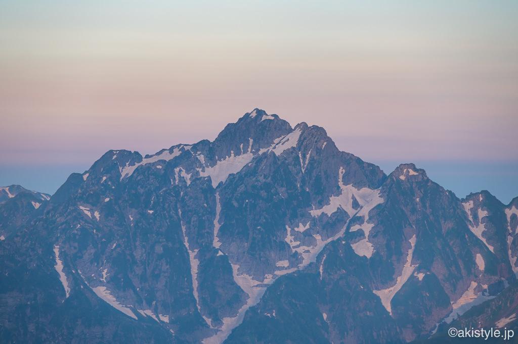 五竜岳から見る剱岳