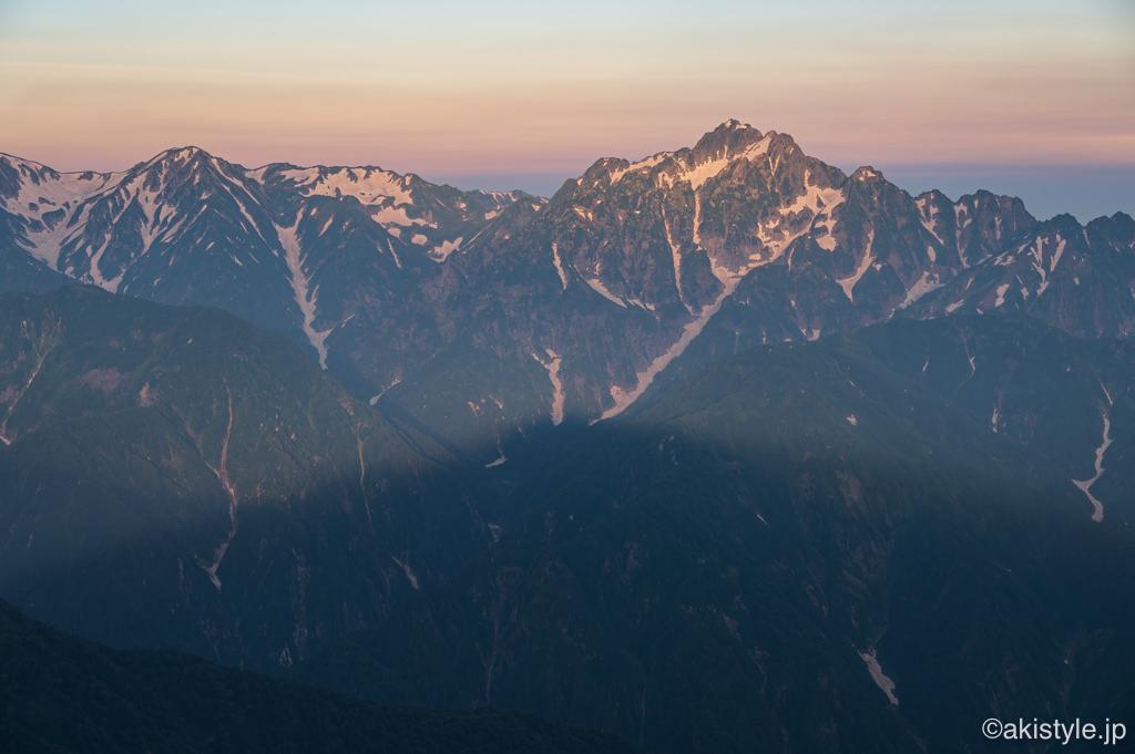 影五竜と剱岳