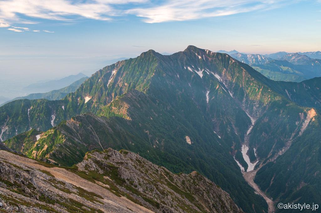 八峰キレットと鹿島槍ヶ岳