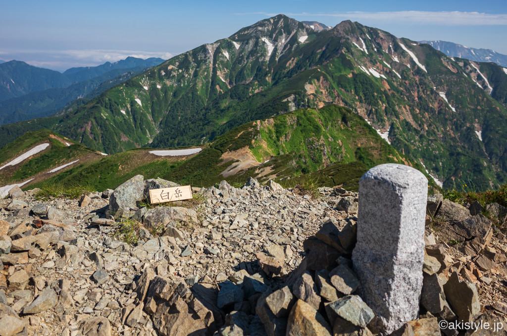 白岳と唐松岳