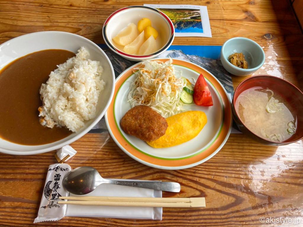 五竜山荘の夕食